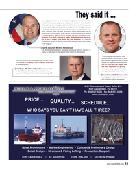 Maritime Reporter Magazine, page 11,  Oct 2014