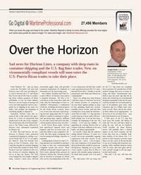 Maritime Reporter Magazine, page 8,  Dec 2014
