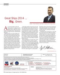 Maritime Reporter Magazine, page 6,  Dec 2014