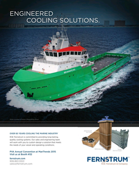 Maritime Reporter Magazine, page 4th Cover,  Jan 2015