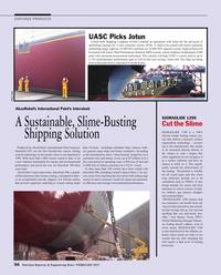 Maritime Reporter Magazine, page 56,  Feb 2015