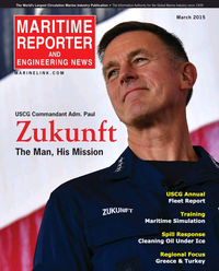 Maritime Reporter Magazine Cover Mar 2015 - U.S. Coast Guard Annual