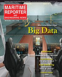 Maritime Reporter Magazine Cover Jul 2015 - Marine Communications Edition