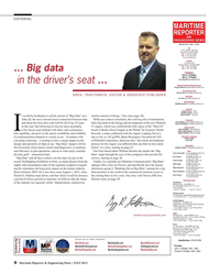 Maritime Reporter Magazine, page 6,  Jul 2015