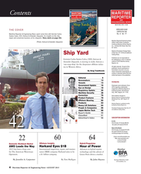Maritime Reporter Magazine, page 4,  Aug 2015