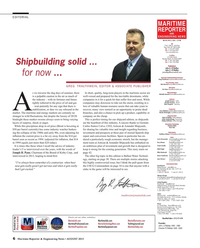 Maritime Reporter Magazine, page 6,  Aug 2015