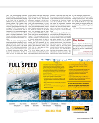 Maritime Reporter Magazine, page 13,  Oct 2015