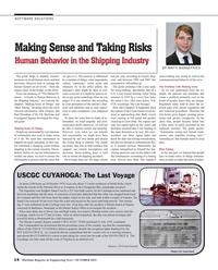 Maritime Reporter Magazine, page 14,  Oct 2015