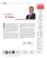 Maritime Reporter Magazine, page 6,  Oct 2015