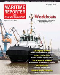 Maritime Reporter Magazine Cover Nov 2015 - Workboat Edition