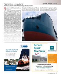 Maritime Reporter Magazine, page 37,  Dec 2015
