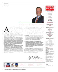 Maritime Reporter Magazine, page 6,  Dec 2015