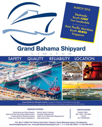 Maritime Reporter Magazine, page 4th Cover,  Feb 2016
