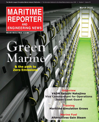 Maritime Reporter Magazine Cover Mar 2016 - Green Marine Technology