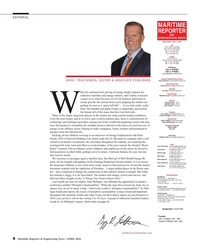 Maritime Reporter Magazine, page 8,  Apr 2016