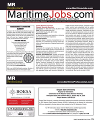 Maritime Reporter Magazine, page 75,  May 2016