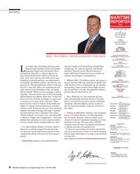 Maritime Reporter Magazine, page 8,  Jun 2016