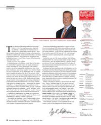 Maritime Reporter Magazine, page 8,  Aug 2016