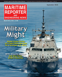 Maritime Reporter Magazine Cover Sep 2016 - Maritime & Ship Security