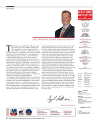 Maritime Reporter Magazine, page 6,  Sep 2016