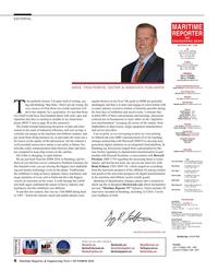 Maritime Reporter Magazine, page 6,  Oct 2016