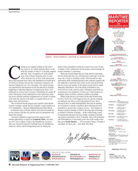 Maritime Reporter Magazine, page 6,  Jan 2017