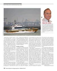 Maritime Reporter Magazine, page 10,  Feb 2017