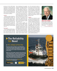 Maritime Reporter Magazine, page 13,  May 2017