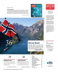 Maritime Reporter Magazine, page 4,  May 2017