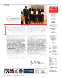 Maritime Reporter Magazine, page 6,  Jul 2017