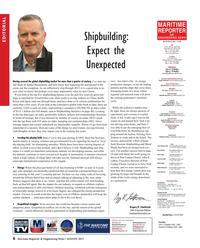 Maritime Reporter Magazine, page 6,  Aug 2017