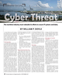 Maritime Reporter Magazine, page 26,  Sep 2017