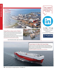 Maritime Reporter Magazine, page 10,  Oct 2017