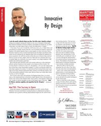 Maritime Reporter Magazine, page 6,  Nov 2017