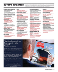 Maritime Reporter Magazine, page 75,  May 2018