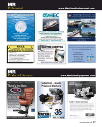 Maritime Reporter Magazine, page 77,  May 2018