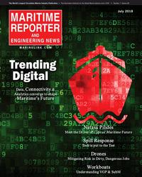Maritime Reporter Magazine Cover Jul 2018 - Marine Communications Edition