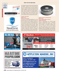 Maritime Reporter Magazine, page 108,  Aug 2018