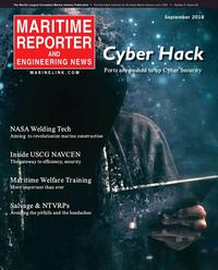 Maritime Reporter Magazine Cover Sep 2018 - Maritime Port & Ship Security