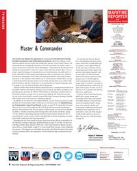 Maritime Reporter Magazine, page 6,  Nov 2018