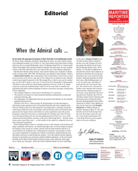 Maritime Reporter Magazine, page 6,  Jul 2019