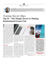 Maritime Reporter Magazine, page 8,  Oct 2019