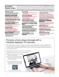 Maritime Reporter Magazine, page 75,  Feb 2020
