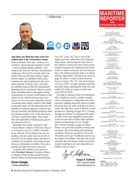Maritime Reporter Magazine, page 6,  Feb 2020