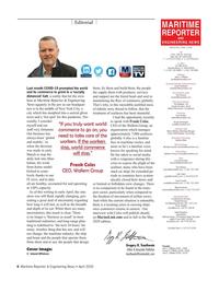 Maritime Reporter Magazine, page 6,  Apr 2020