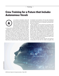 Maritime Reporter Magazine, page 14,  May 2020