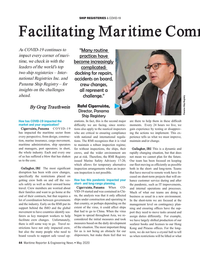 Maritime Reporter Magazine, page 44,  May 2020
