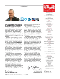Maritime Reporter Magazine, page 6,  Aug 2020