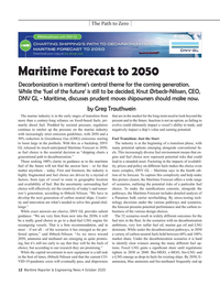 Maritime Reporter Magazine, page 12,  Oct 2020