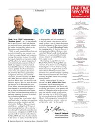 Maritime Reporter Magazine, page 6,  Nov 2020